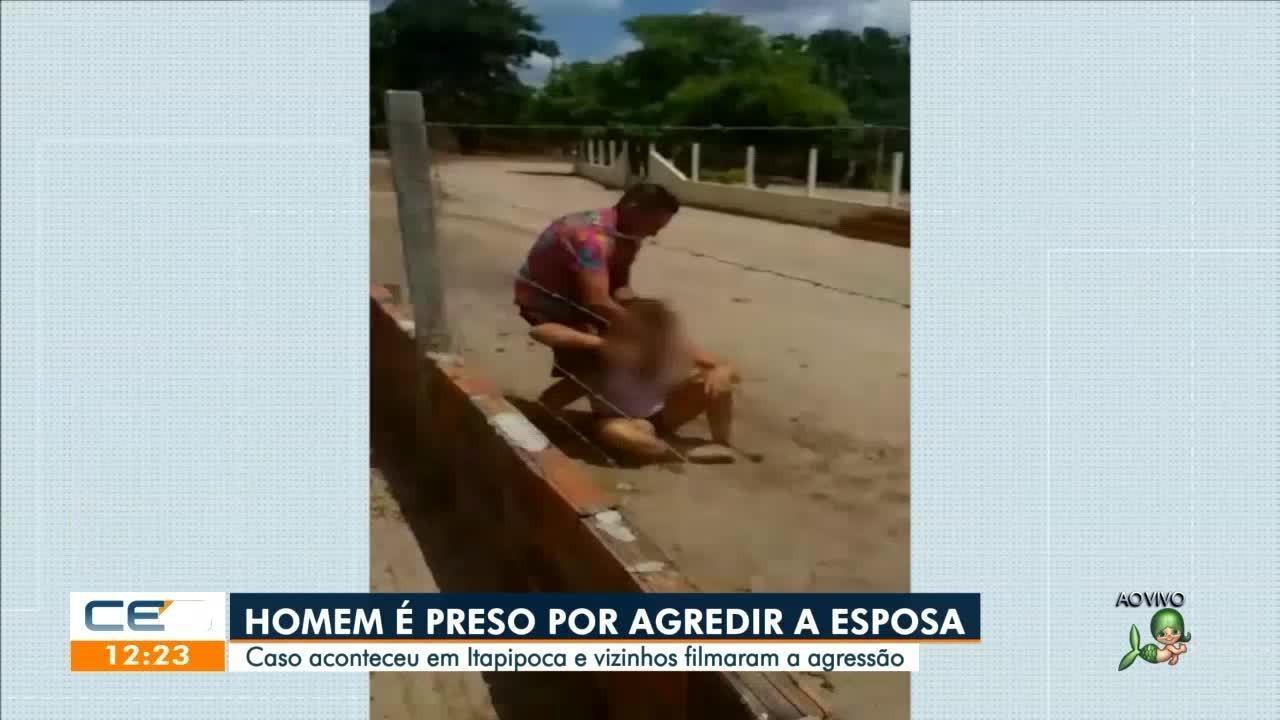 Homem é preso suspeito de agredir companheira em Itapipoca