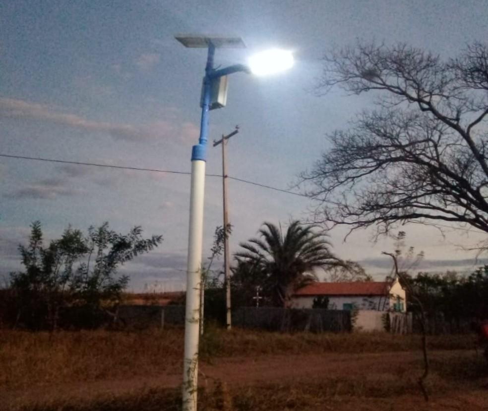 Comunidade de Caetité, na Bahia, convive com ausência de energia elétrica nas ruas — Foto: Arquivo Pessoal