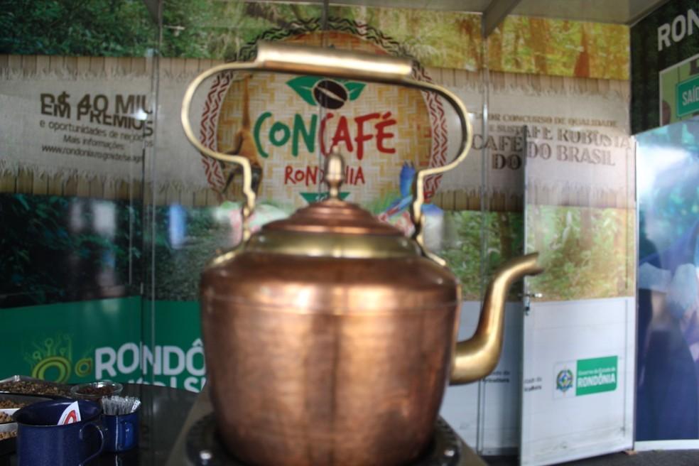 Caminhos do café encantam visitantes da Rondônia Rural Show 2019 — Foto: Mary Porfiro/Rede Amazônica