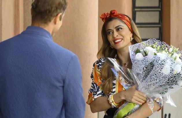 Na terça (9), Maria da Paz (Juliana Paes) e Régis (Reynaldo Gianecchini) vão se casar e Amadeu (Marcos Palmeira) sofrerá ao ver a cerimônia (Foto: Reprodução)