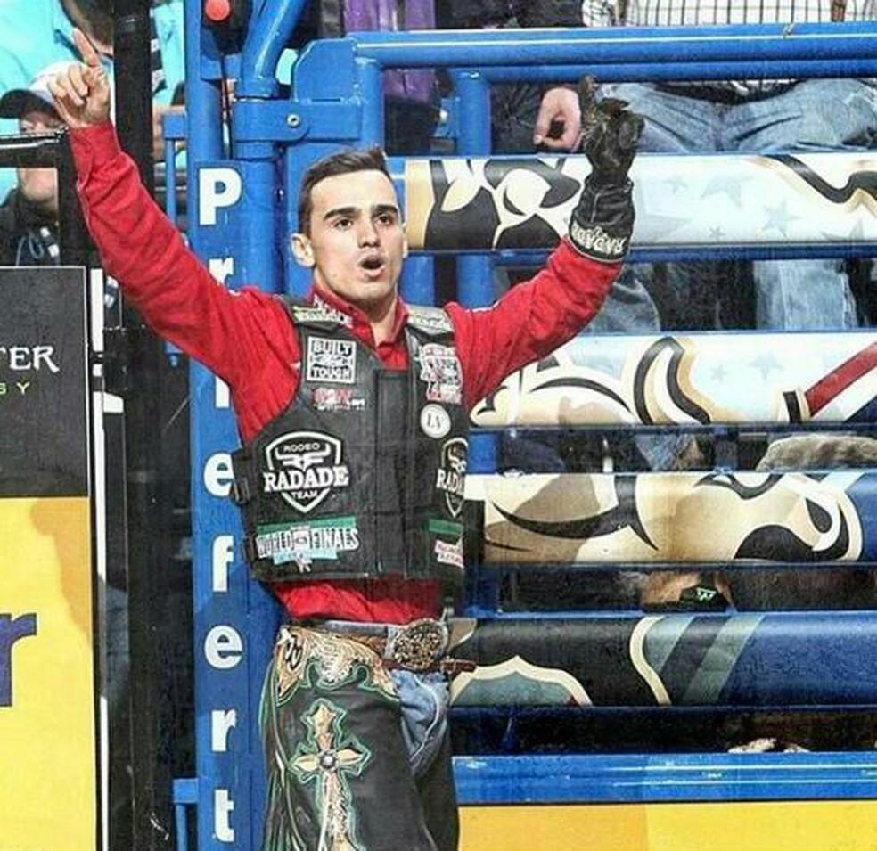 Em 2017, José Vitor Leme foi o sexto melhor peão do mundo. — Foto: José Vitor Lemes/Arquivo pessoal
