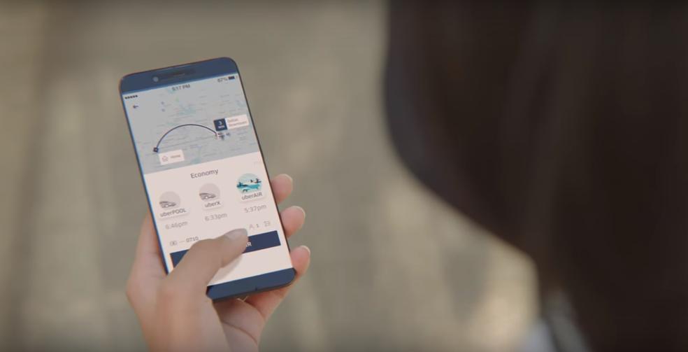 Procedimento para pedir uberAIR deverá ser semelhante à solicitação de um carro (Foto: Divulgação/Uber)