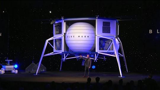 Fundador da Amazon revela nova nave espacial para missões à Lua