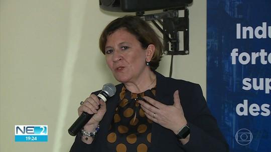 Em visita ao Recife, ministra da Itália acompanha licitação de construção de navios de defesa marítima