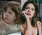 Thais Müller na novela 'O Cravo e a Rosa' e atualmente  | TV Globo - Reprodução/Instagram