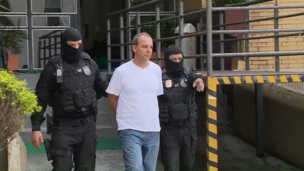 Cabral foi preso em novembro de 2016 (Foto: Reprodução/TV Globo)