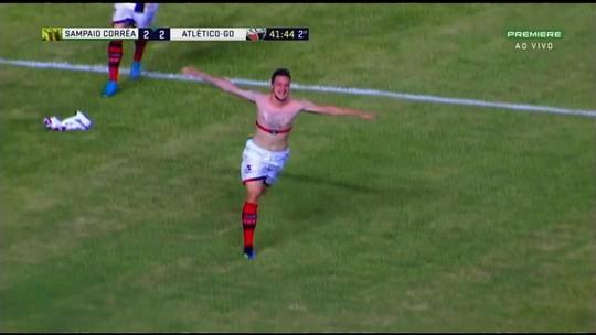Veja os gols: Sampaio Corrêa 2 x 3 Atlético-GO