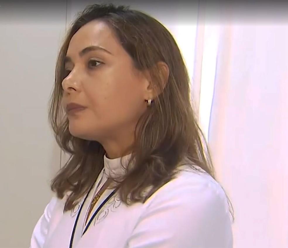 Patrícia Lordêlo, coordenadora do Centro de Atenção ao Assoalho Pélvico da Faculdade Bahiana de Medicina, em Salvador — Foto: Reprodução/TV Bahia