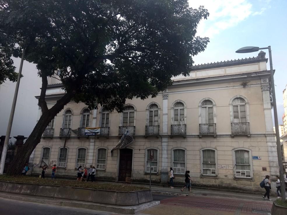 -  DEER mudou datas da licitação para obras no Palacete Santa Mafalda, sede da Escola Estadual Delfim Moreira, em Juiz de Fora  Foto: Roberta Oliveira/G