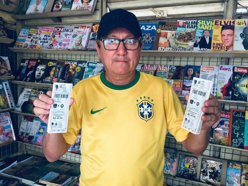 Diretoria divulgou três pontos de vendas de ingressos para o jogo entre Vilhenense e Boa Esporte na Copa do Brasil — Foto: Divulgação/Facebook