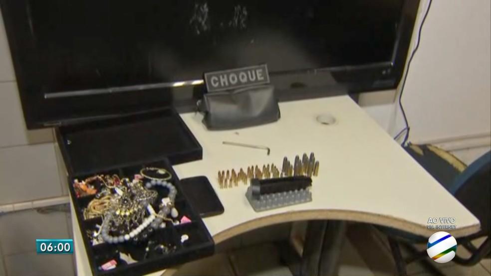657b24ea1 ... Produtos furtados em lojas de Campo Grande — Foto: Reprodução/TV Morena
