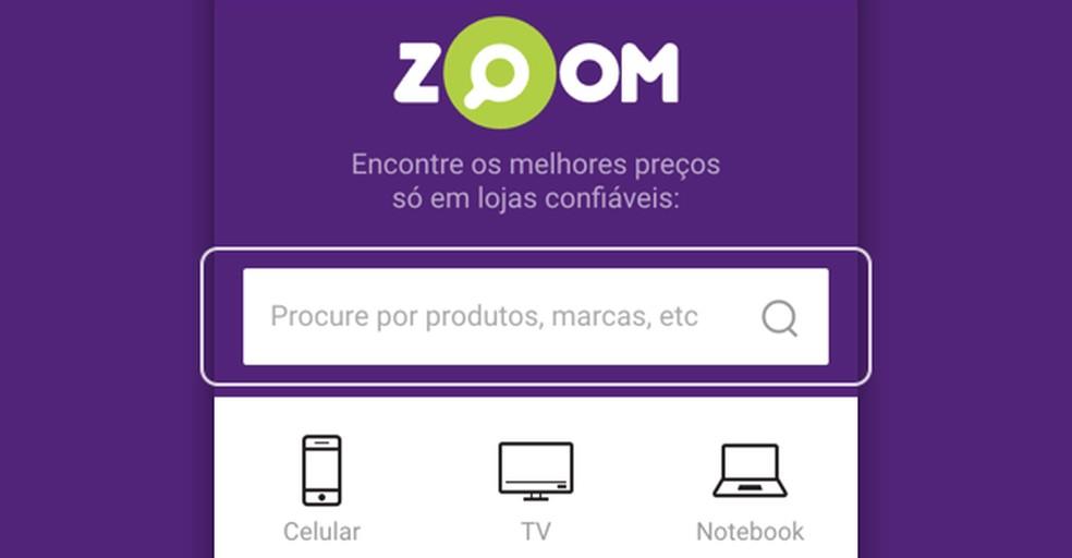 929e738b7 ... Plataforma de comércio eletrônico Zoom — Foto  Reprodução