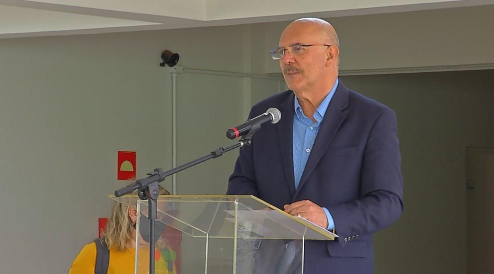 Ministro da Educação, Milton Ribeiro, em inauguração do campus do Instituto Federal de São Paulo (IFSP) em Rio Preto (SP) — Foto: Reprodução/TV TEM