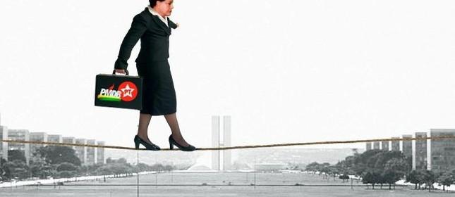 Dilma na corda bamba (Foto: Arte: Antonio Lucena)