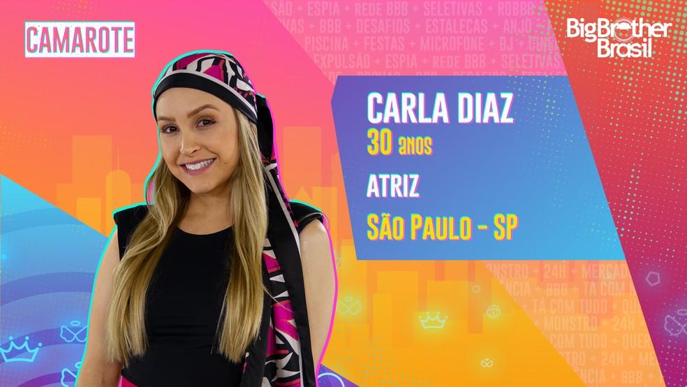 Carla Diaz é participante do 'BBB21' — Foto: Divulgação/Globo
