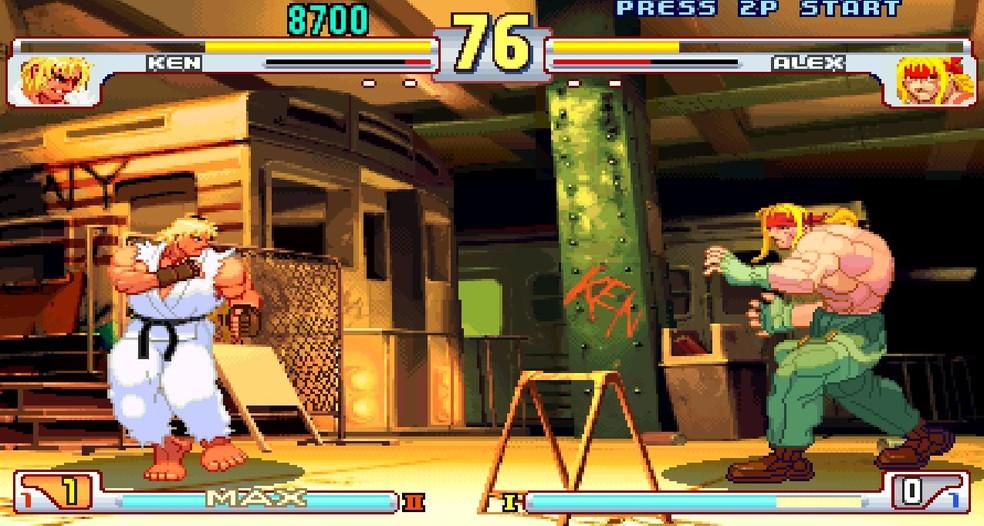 Street Fighter III, apesar do lançamento de novas versões, afastou muitos fãs da franquia — Foto: Reprodução/Victor de Abreu