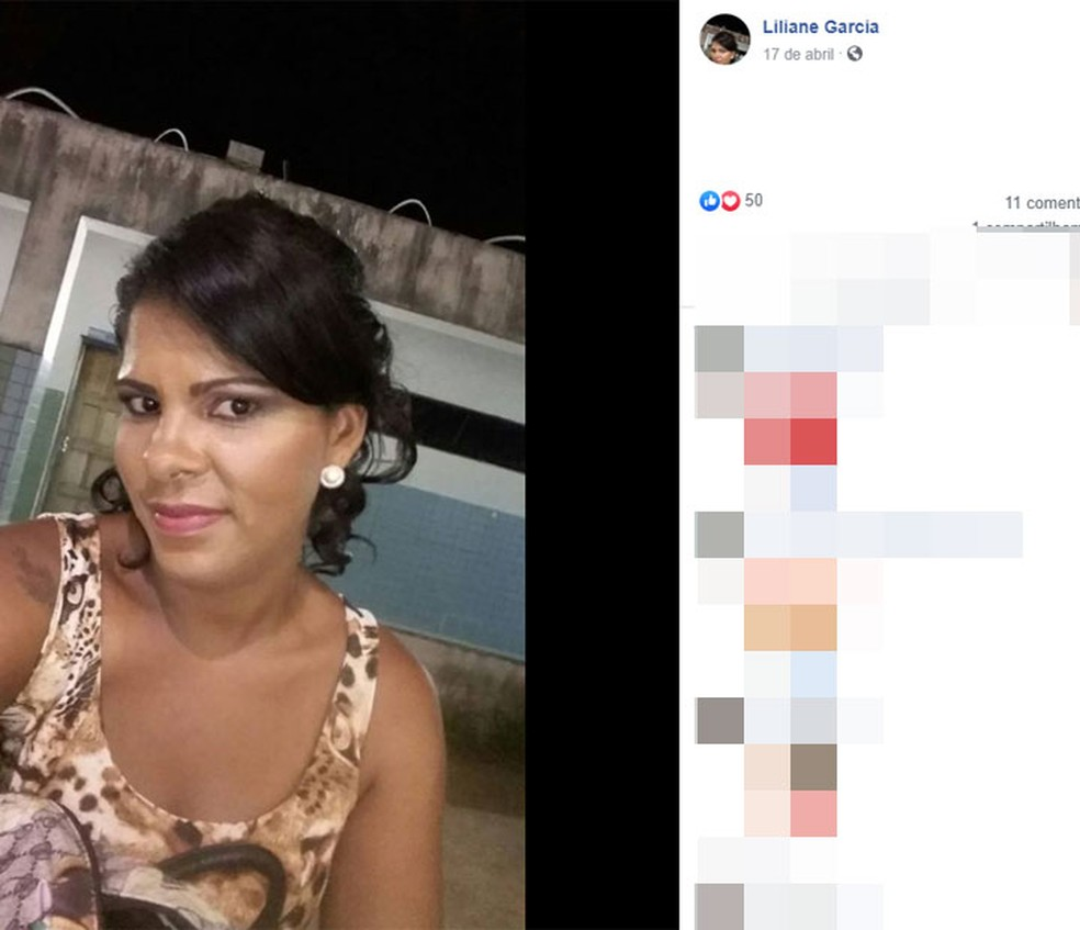 Mulher é morta a tiros em Camaçari, na região metropolitana de Salvador — Foto: Reprodução/Facebook