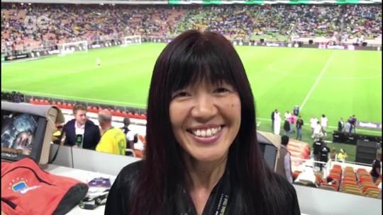 Fim de tabus: repórter japonesa e mulher saudita fazem história no Brasil x Argentina