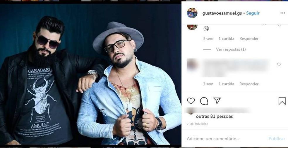 Dupla Gustavo e Samuel — Foto: Instagram/Reprodução