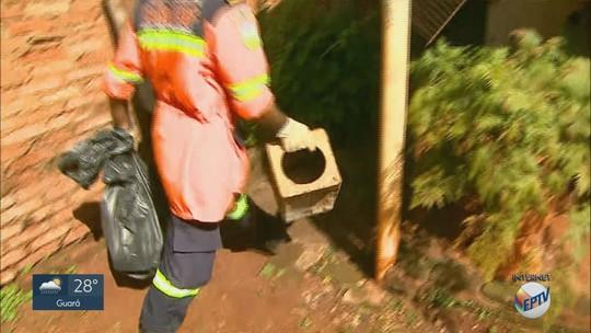 Agentes vistoriam casas no 4º Mutirão de Combate ao Aedes na região de Ribeirão Preto