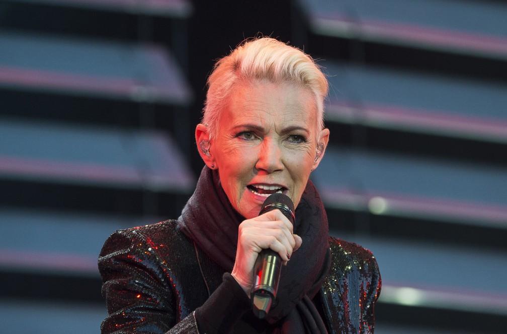 Marie Fredriksson, vocalista do Roxette — Foto: Suvad Mrkonjic / TT via AP