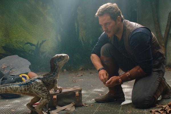 Chris Pratt em cena de Jurassic World - Reino Ameaçado (Foto: Divulgação)