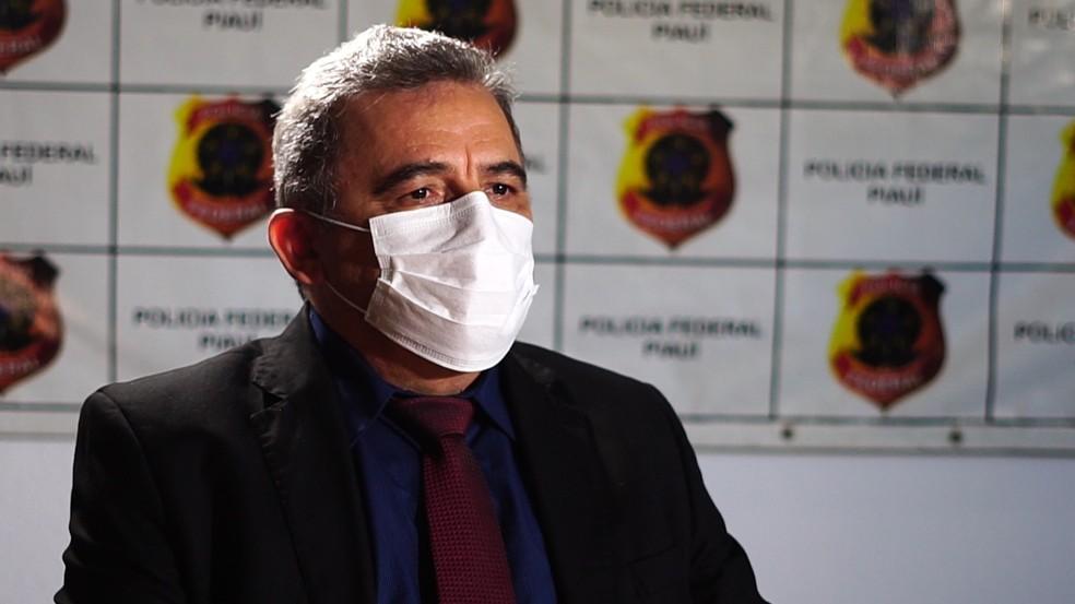 Delegado Robério Chaves, da Polícia Federal no Piauí — Foto: Reprodução/TV Clube