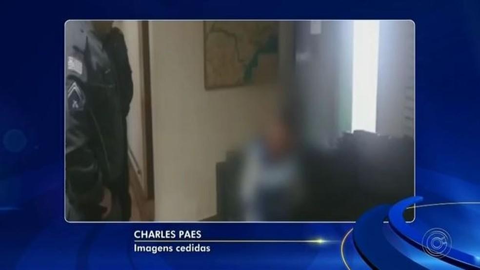Vítima conseguiu pedir ajuda em um hotel após o crime (Foto: Reprodução/TV TEM)