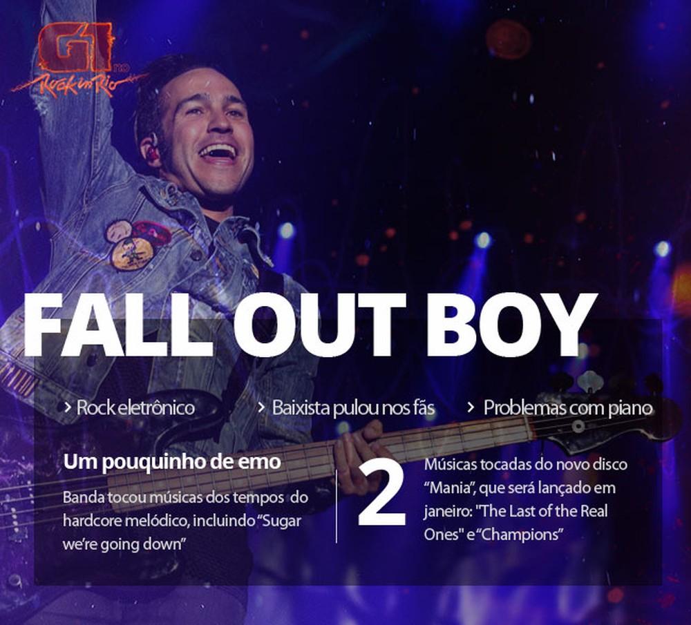 Fall Out Boy (Foto: Fabio Tito/G1)