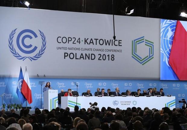 Patricia Espinosa, secretária executiva das Nações Unidas, na abertura da COP 24 (Foto: Sean Gallup/Getty Images)