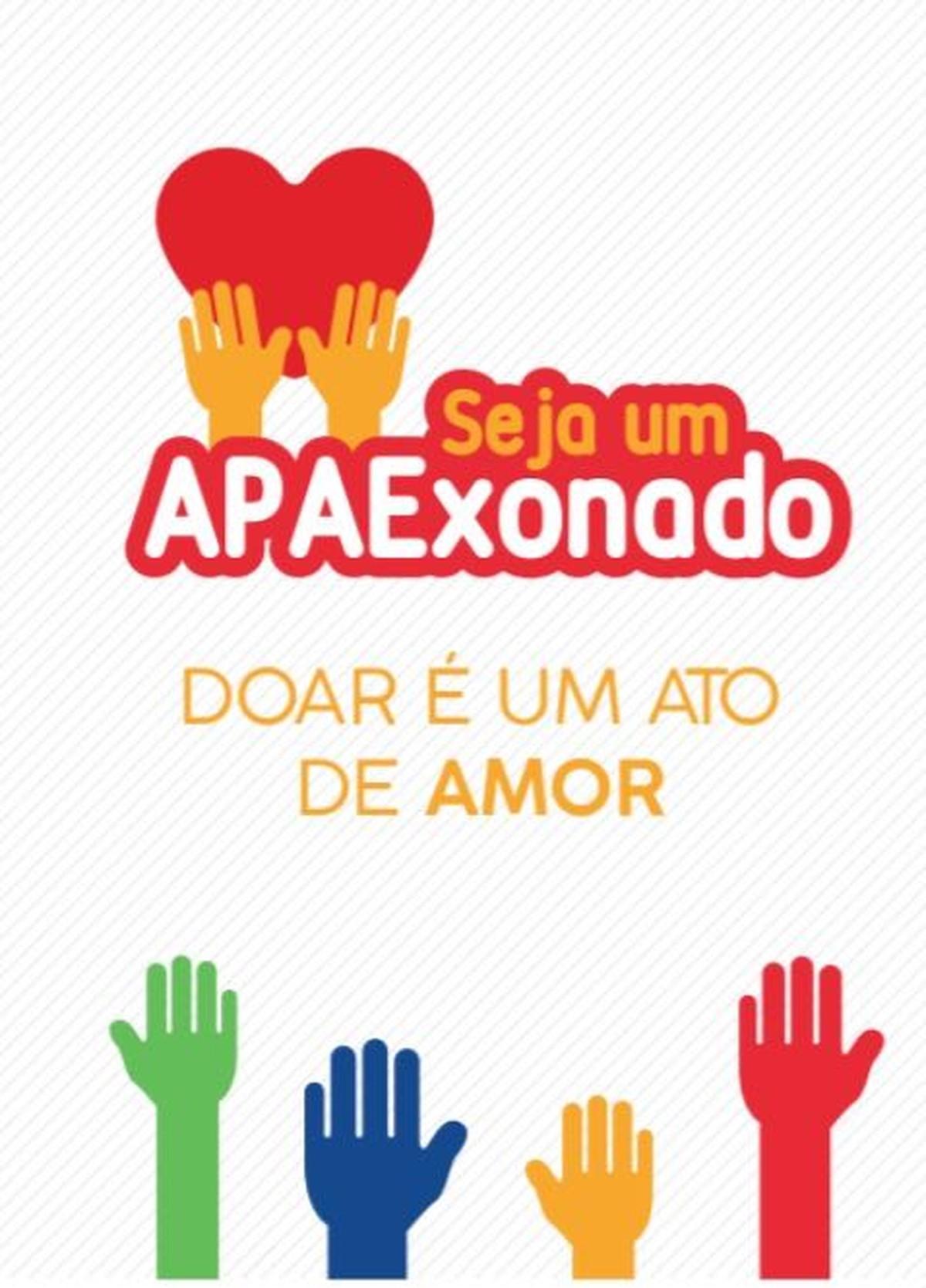 APAE lança campanha solidária 'Seja Um APAExonado - Doar é Um Ato de Amor'