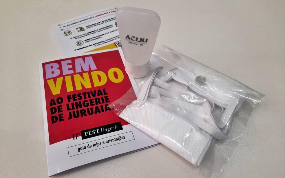Organizadores da Festlingerie de Juruaia irão distribuir kits  com máscaras, álcool gel e cartilha logo na entrada da cidade — Foto: José Antônio da Silva / Aciju