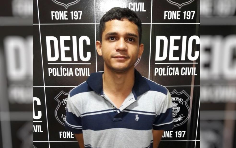 Suspeito de participação na morte de advogados em Goiânia é preso  — Foto: Reprodução/TV Anhanguera