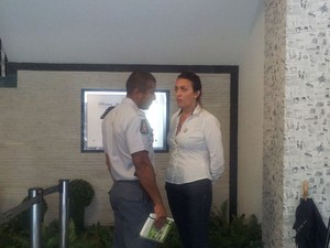 Encontro de Policiais Militares em Santos, SP (Foto: Mariane Rossi/G1)