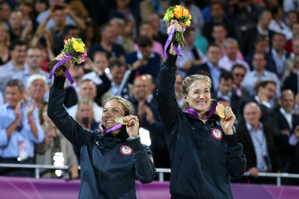 Em Londres 2012, Kerri Walsh e Misty May venceram o terceiro ouro seguido — Foto: Getty Images