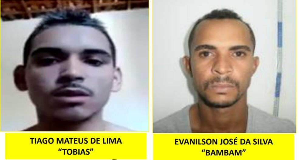 Homens são procurados pela Polícia Civil de Pernambuco suspeitos de envolvimento em diversos crimes — Foto: Reprodução/Polícia Civil