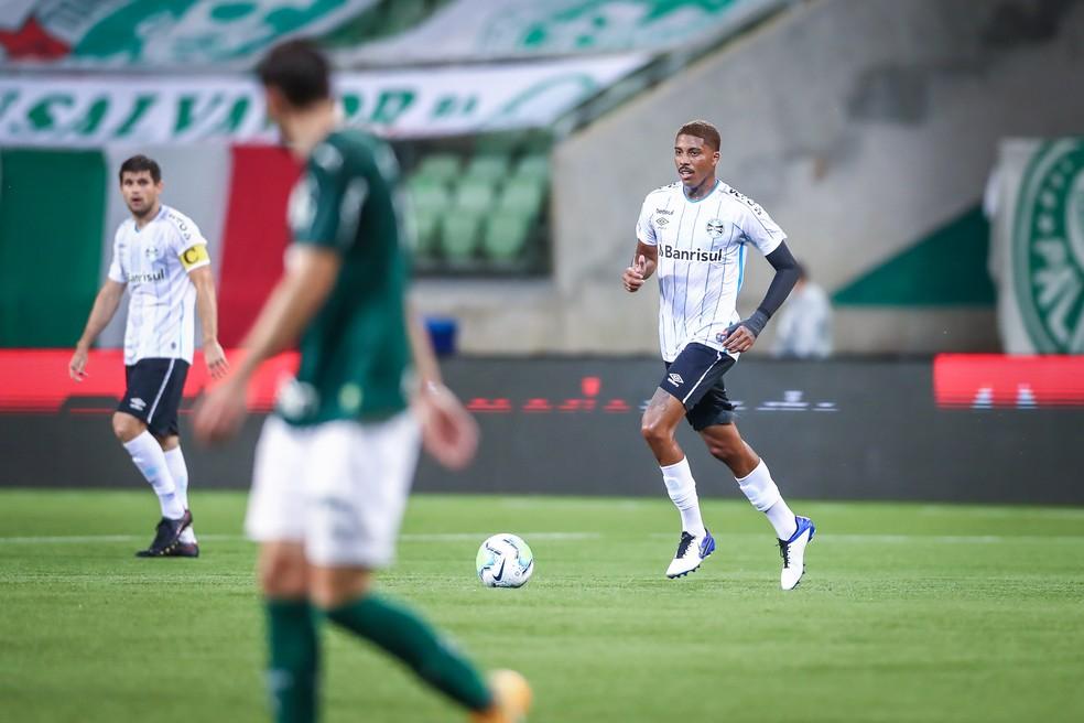 Jean Pyerre não repetiu boas atuações de outrora — Foto: Lucas Uebel/Grêmio