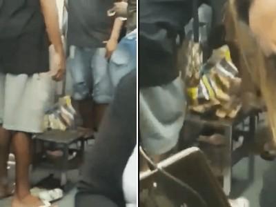 Vídeo mostra churrasco dentro do trem da Supervia