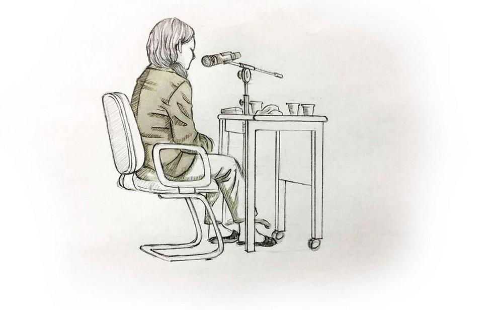 Ilustração mostra o depoimento de Elize Matsunaga (Foto: Roberta Jaworski/Editoria de Arte/G1)