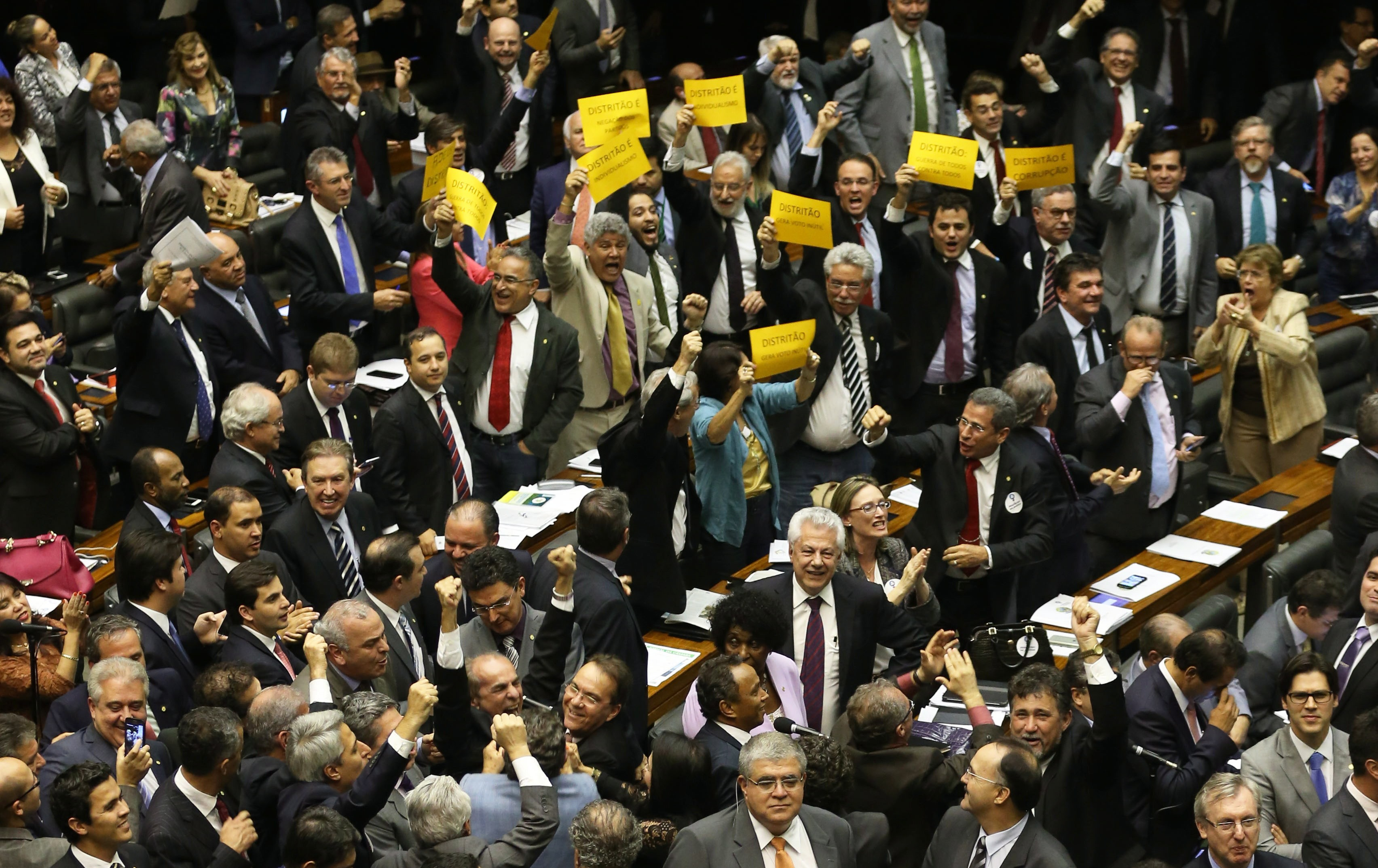 Em 2015, os deputados rejeitaram o 'distritão'