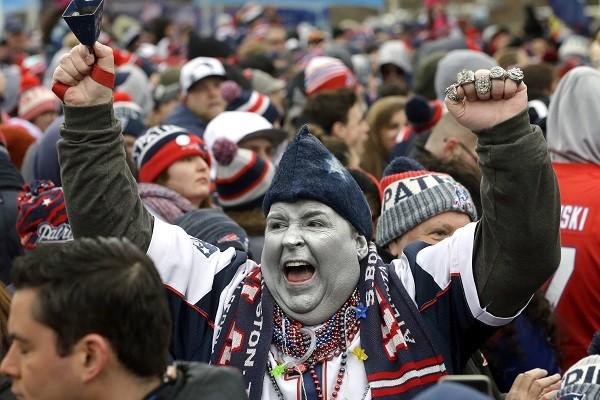 Torcedor do Patriots, franquia que tenta o sexto título da NFL