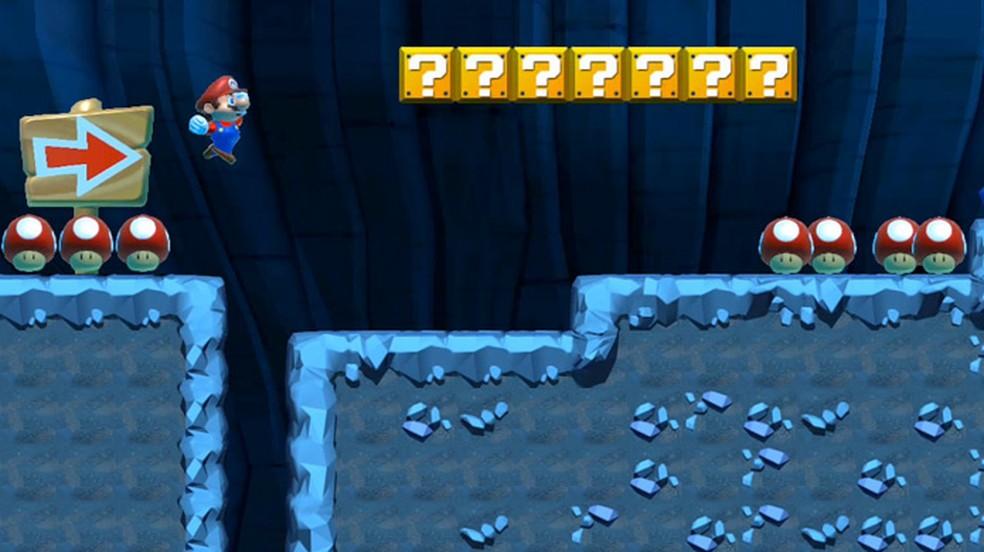 Dont Touch the Shrooms mexe com a mecânica básica de Super Mario Maker e transforma cogumelos em uma espécie de inimigo (Foto: Reprodução)