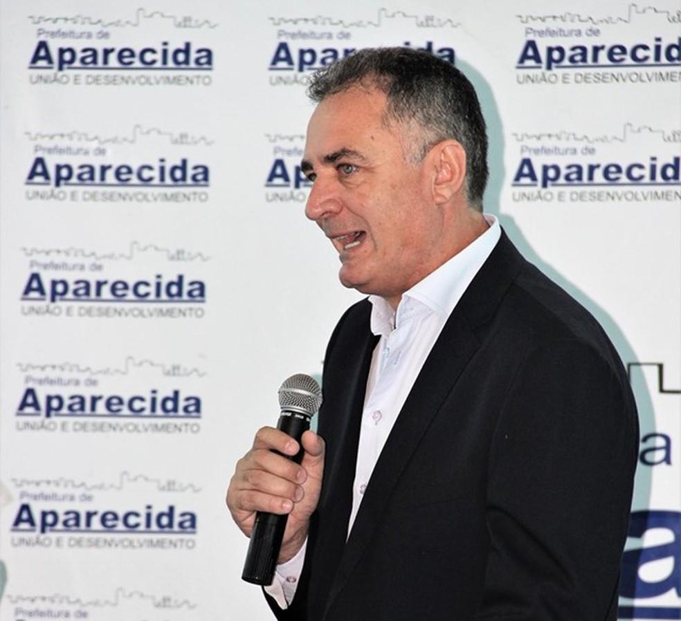 Justiça determinou bloqueio das contas do prefeito Sargento Ernaldo Marcondes — Foto: Prefeitura de Aparecida/Divulgação