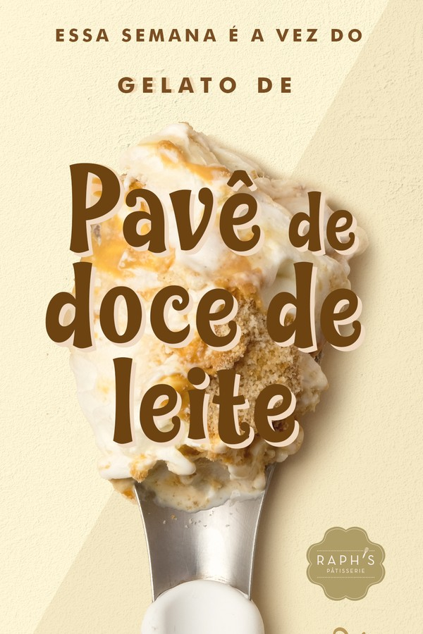 Pavê Doce de Leite: gelato de fior di Latte, recheado de doce de leite, brigadeiro branco, preto e biscoito  (Foto: Divulgação)