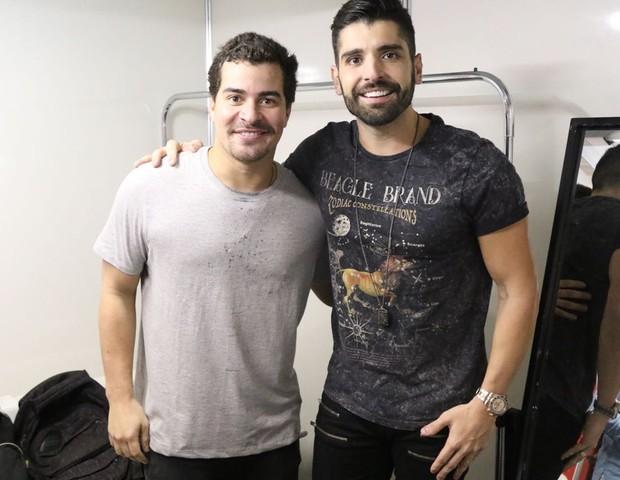 Thiago Martins e João Gabriel (Foto: Daniel Janssens/Divulgação)