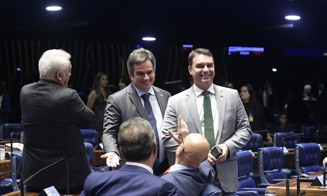 Ciro Nogueira e Flávio Bolsonaro