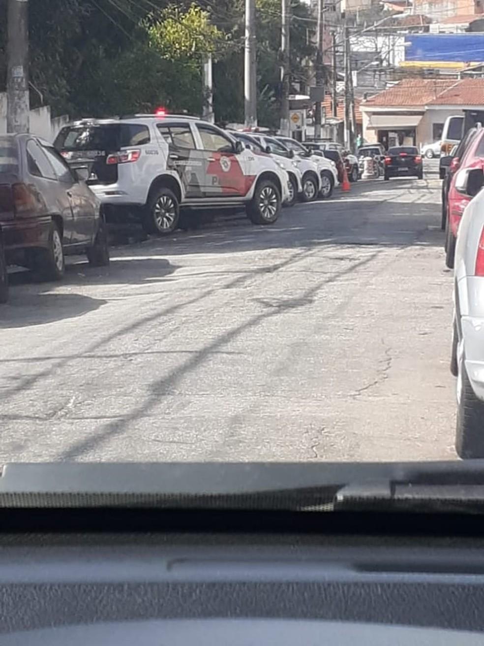 5º Batalhão da PM é cercado pela Corregedoria — Foto: Arquivo pessoal