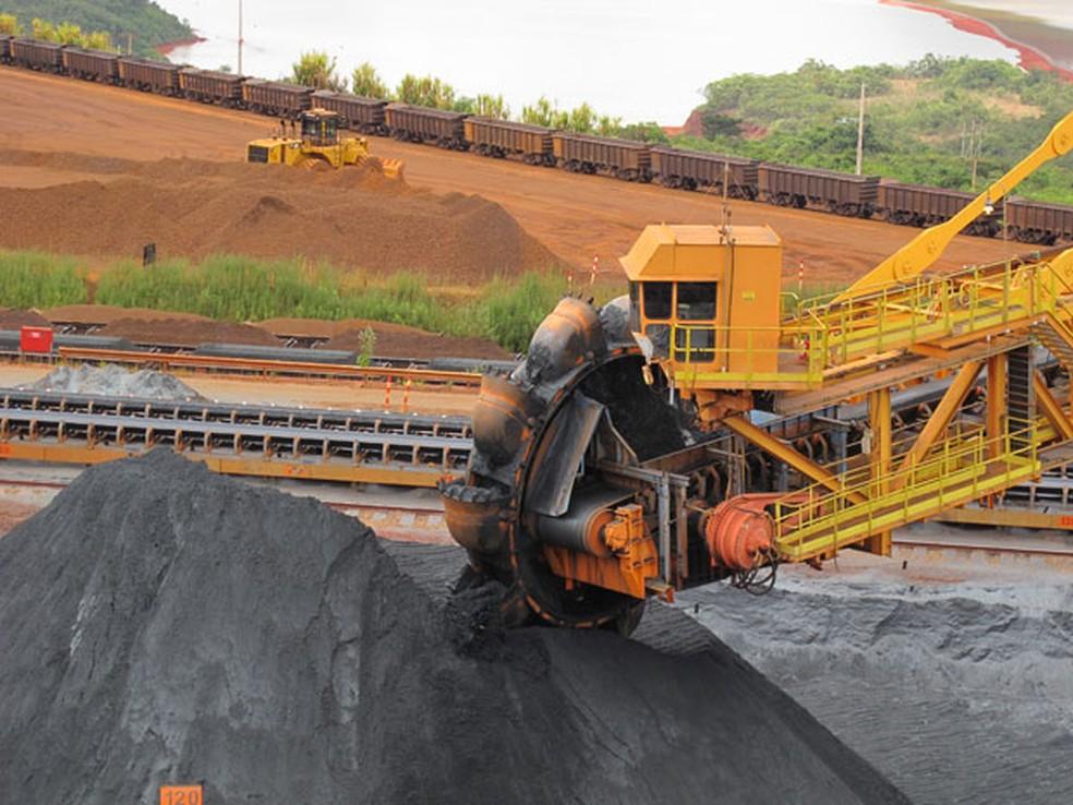 Mina de Brucutu da Vale, em Minas Gerais. Produção de minério de ferro despencou em 2019 após a tragédia de Brumadinho — Foto: Darlan Alvarenga/G1