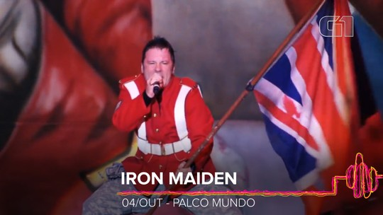 Brasil é país que mais ouve Iron Maiden no mundo; veja 'índices de brasilidade' do Rock in Rio