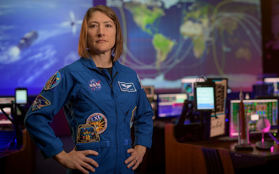 Christina Koch (Imagem: NASA / Bill Ingalls)